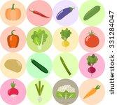 set of fresh healthy vegetables ... | Shutterstock .eps vector #331284047