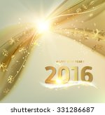 happy new year card. gold... | Shutterstock .eps vector #331286687