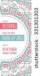 vector design awesome wedding...   Shutterstock .eps vector #331301303