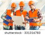 portrait of a man construction...   Shutterstock . vector #331316783