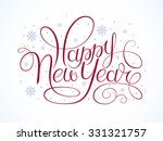 happy new year  christmas card. | Shutterstock .eps vector #331321757