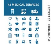 medical services icons | Shutterstock .eps vector #331331387