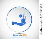 vector glass of juice icons  | Shutterstock .eps vector #331348553