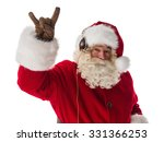 santa claus showing rock... | Shutterstock . vector #331366253