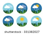 weather icon set flat vector... | Shutterstock .eps vector #331382027