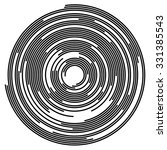 concentric segments of circles  ... | Shutterstock .eps vector #331385543