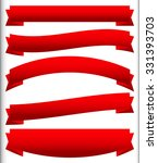 set of red ribbons  banners or... | Shutterstock .eps vector #331393703