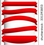 set of red ribbons  banners or... | Shutterstock .eps vector #331393853