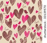 birds in hearts   Shutterstock .eps vector #33139570