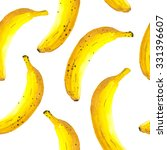 Hand Drawn Watercolor Of Banan...