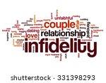 infidelity word cloud | Shutterstock . vector #331398293