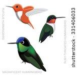 bird hummingbird set cartoon... | Shutterstock .eps vector #331406033