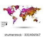 polygonal world map vector.   Shutterstock .eps vector #331406567