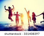 friendship freedom beach summer ... | Shutterstock . vector #331408397