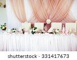 wedding table decorations in... | Shutterstock . vector #331417673