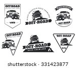 set of classic off road suv car ... | Shutterstock .eps vector #331423877