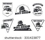 Set Of Classic Off Road Suv Ca...