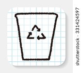 doodle recycling | Shutterstock .eps vector #331424597