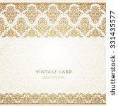 eastern filigree ornament... | Shutterstock .eps vector #331435577