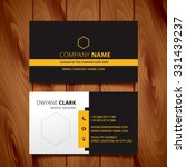 black dark business card modern design vector | Shutterstock vector #331439237
