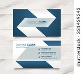 creative simple business card... | Shutterstock .eps vector #331439243