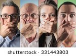shocked people's portraits | Shutterstock . vector #331443803