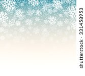 blue background with snowflakes.... | Shutterstock .eps vector #331458953