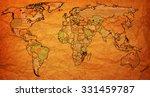 mozambique flag on old vintage... | Shutterstock . vector #331459787