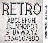 vector metal embossed font | Shutterstock .eps vector #331460837