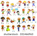 children doing different... | Shutterstock .eps vector #331466963