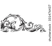 vintage baroque frame scroll... | Shutterstock .eps vector #331476437