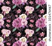 watercolor vintage floral... | Shutterstock . vector #331476467