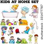children doing different... | Shutterstock .eps vector #331477787