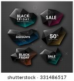 black friday sale design. set... | Shutterstock .eps vector #331486517