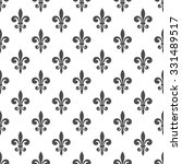 seamless pattern with fleur de... | Shutterstock .eps vector #331489517