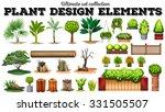 many kind of plants illustration | Shutterstock .eps vector #331505507