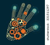 graphic of a hand in...   Shutterstock .eps vector #331511297