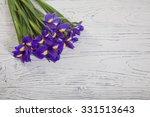 Purple Iris Flower Isolated On...