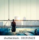 businessman thinking... | Shutterstock . vector #331515623