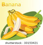 illustration of ripe banana | Shutterstock .eps vector #33153421