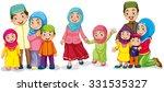 muslim families looking happy... | Shutterstock .eps vector #331535327