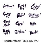 hand drawn elegant catchwords... | Shutterstock .eps vector #331539497