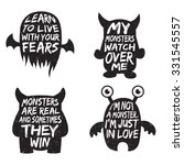 set of monster typography... | Shutterstock .eps vector #331545557