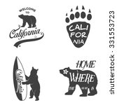 set of vintage monochrome...   Shutterstock .eps vector #331553723