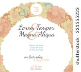 wedding invitation card with... | Shutterstock .eps vector #331555223