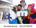 another great selfie on the ski ...   Shutterstock . vector #331570043