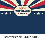 happy veterans day horizon... | Shutterstock .eps vector #331573883