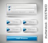 set of member login template... | Shutterstock .eps vector #331578653