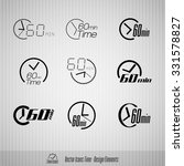 vector time icons. 60 minutes... | Shutterstock .eps vector #331578827
