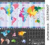 vector world standard time... | Shutterstock .eps vector #331590647